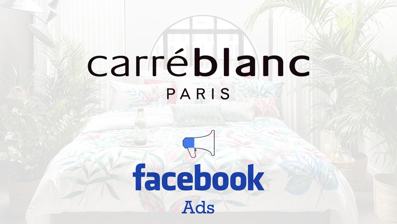 Carré blanc Facebook ADS
